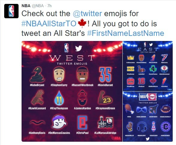 Check it out: NBA All-star game gets cute twitter Emojis