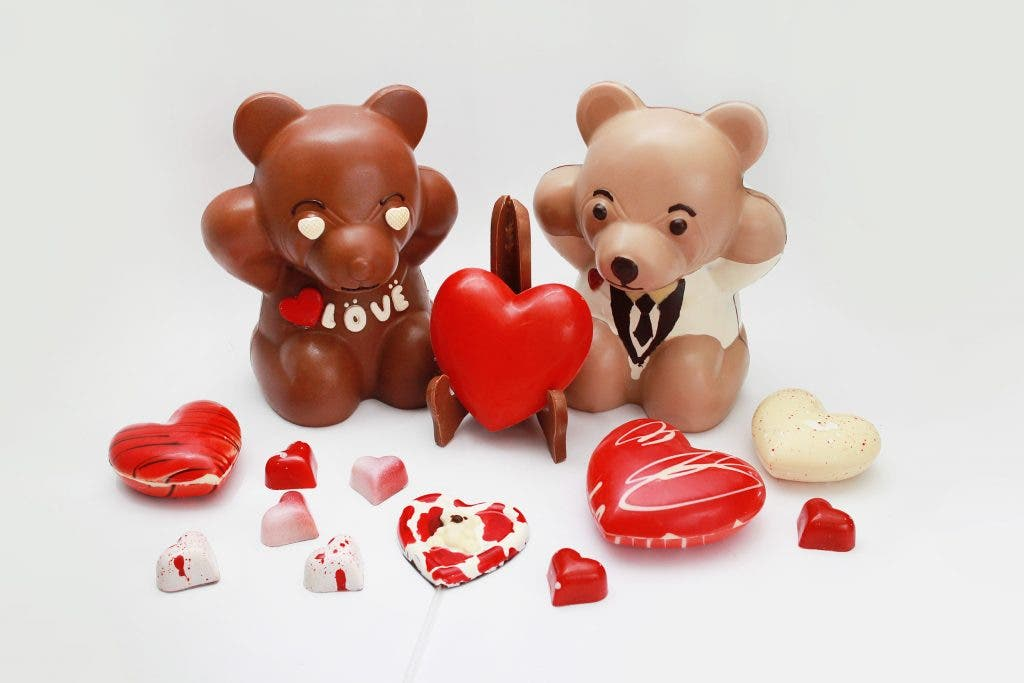 End the day with a sweet note by giving her The Bakeshop's Chocolate Bears and Chocolate Hearts