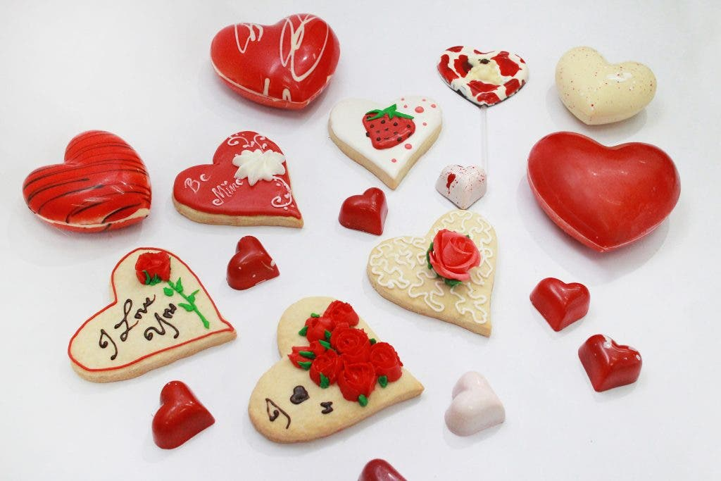 Fill the air with love with The Bakeshops Cookie and Chocolate Hearts