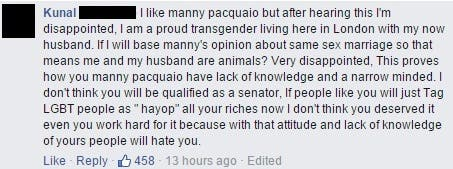 Manny Pacquiao Same Sex Marriage (6)