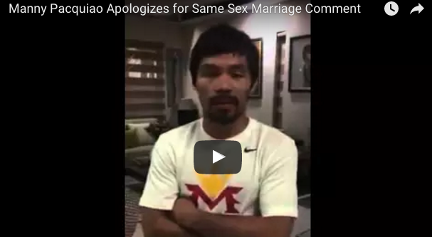 Manny Pacquiao apologizes