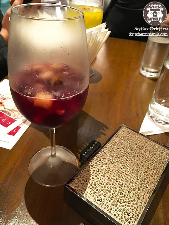 Wolfgang's Steakhouse red sangria