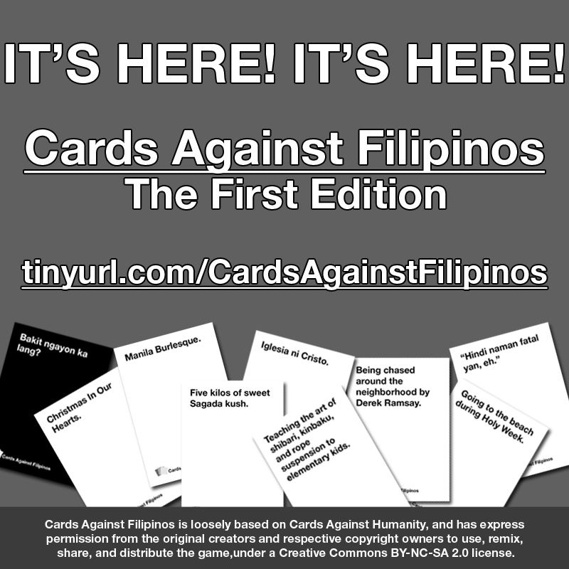 Cards Against Filipinos is Now Downloadable