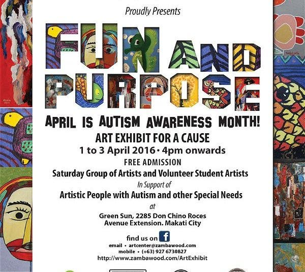 The Fun and Purpose Art Exhibit: Artistically Gifted Children and Adults with Special Needs Zambawood