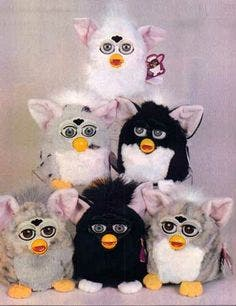 Furby toys from the 90s