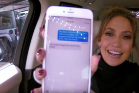 WATCH: JLo and James Corden Prank Texts Leonardo DiCaprio — The Late Late Show