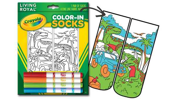 LOOK Crayola Made Socks You Can Color!