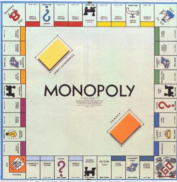 Monopoly toys from the 90s