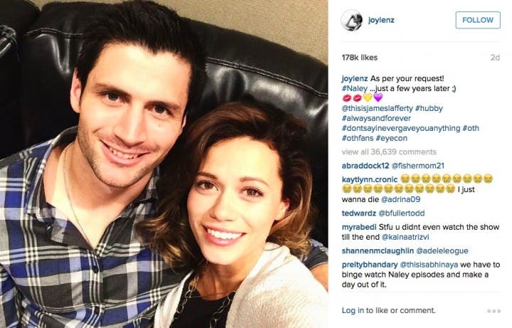 Naley James Lafferty Bethany Joy Lenz One Tree Hill Reunion
