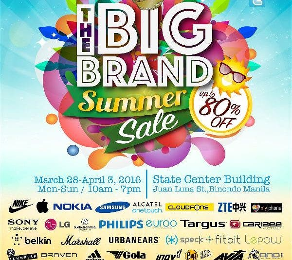 The Big Brand Summer Sale: Your Favorite Brands All Yours for the Taking! Binondo Manila