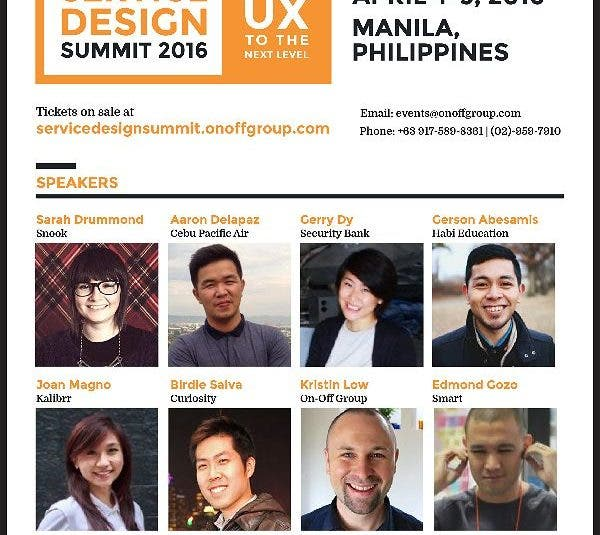 """""""Service Design Summit 2016"""": Exploring Growth Opportunities for Businesses in the Philippines"""