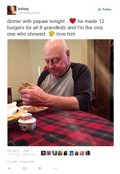 Sad Viral Tweet Gets Happy Ending: Papaw is Having a Cookout and Everyone's Invited!