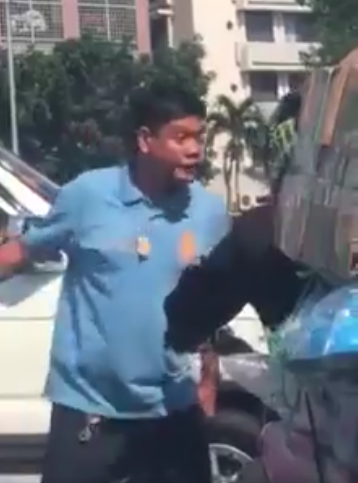 Viral video of a man impersonating a cop