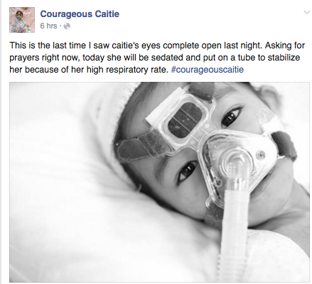 Courageous Caitie Passes Away