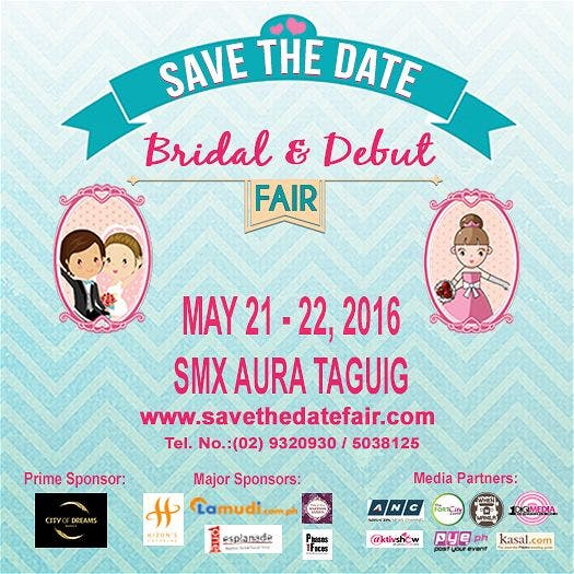 "Celebrate Love with ""Save The Date Bridal and Debut Fair"" on May 21-22 at SMX Aura"