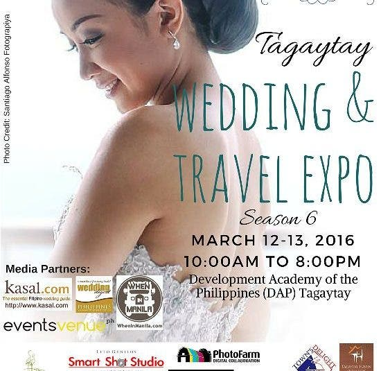 Tagaytay Wedding and Travel Expo: Win Your Dream Tagaytay Wedding, Discounts, and Special Packages
