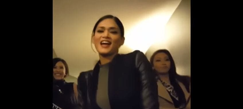 WATCH Miss Universe Pia Wurtzbach Dances Hotline Bling with Miss China and Miss Malaysia