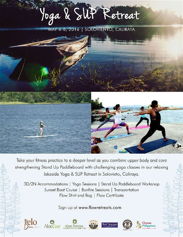 Stand-Up Paddleboard and Yoga Retreat with FLOW Retreats this May in Caliraya