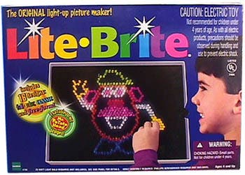lite-brite toys from the 90s