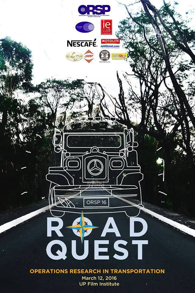 """Join """"ROADQUEST: Exploring Operations Research in Transportation"""" with UP Film Institute"""