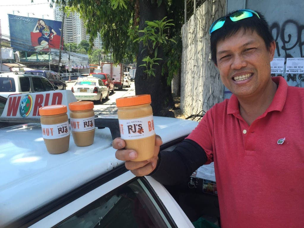 cab driver sells peanut butter