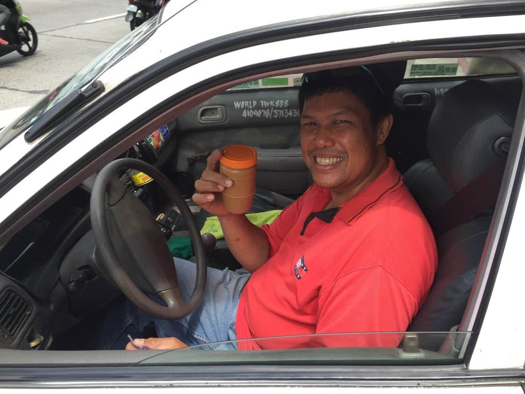 Cab driver selling peanut butter receives free food labels