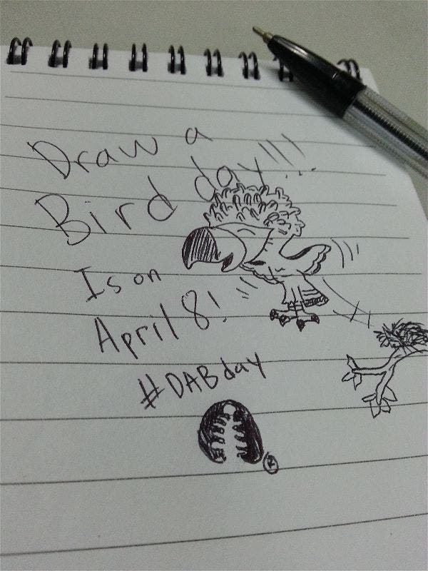 """Draw a Bird Day"" — It's a Thing. Join in on April 8! Haribon"