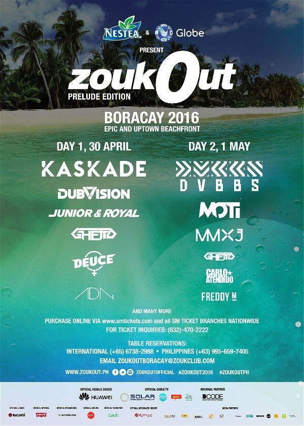 Ultimate Music Festival ZOUKOUT to Break New Ground in PH this Weekend at LaBoracay!