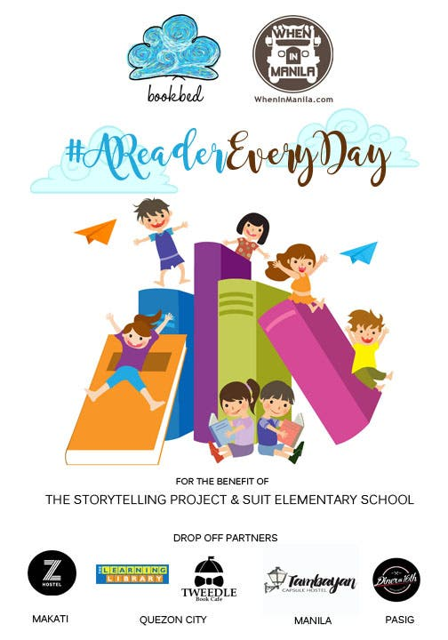 #AReaderEveryDay A Book Drive of WhenInManila.com and Bookbed