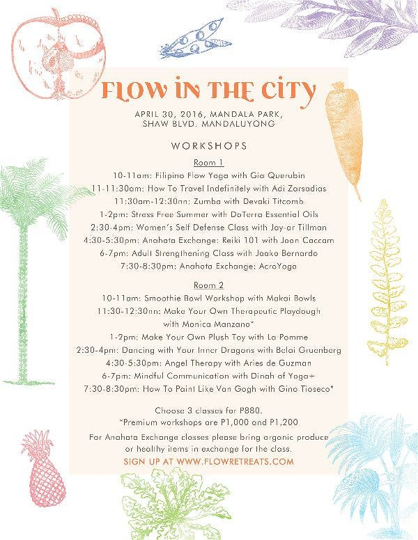 Flow In The City Summer Wellness Market at the Mandala Park!