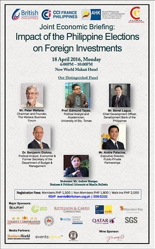 Joint Economic Briefing: Impact of the Philippine Elections on Foreign Investments