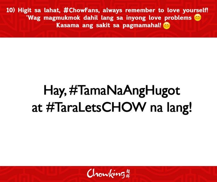 LOOK Chowking Fastfood Responds to Hugot Messages (11)