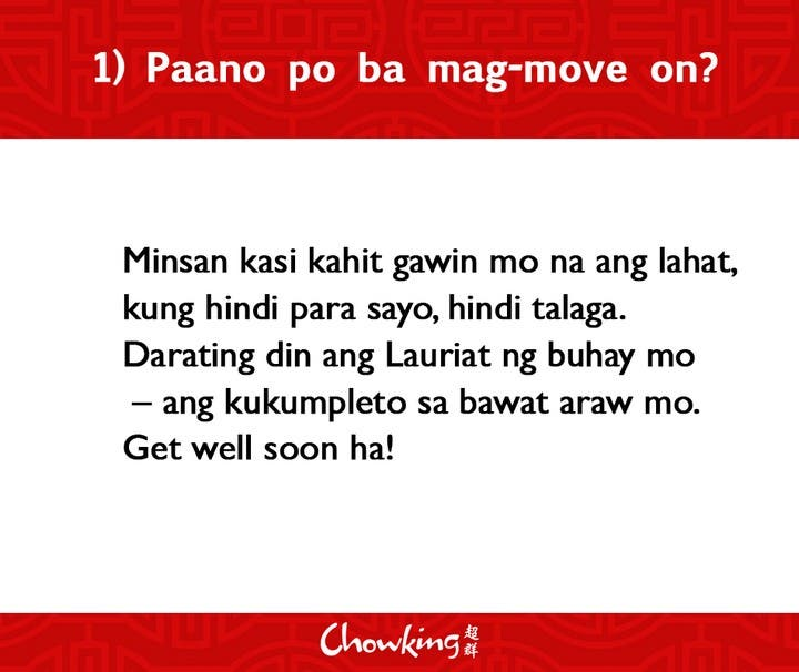 LOOK Chowking Fastfood Responds to Hugot Messages (2)