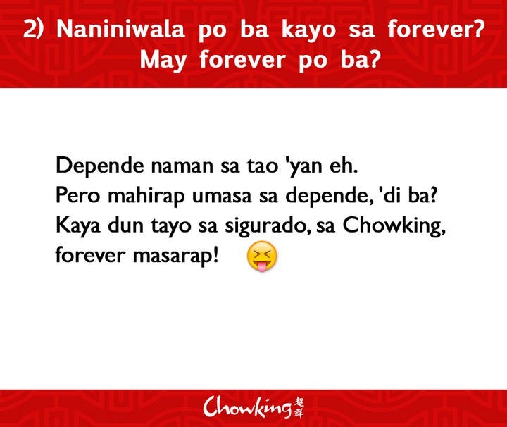 LOOK Chowking Fastfood Responds to Hugot Messages (3)