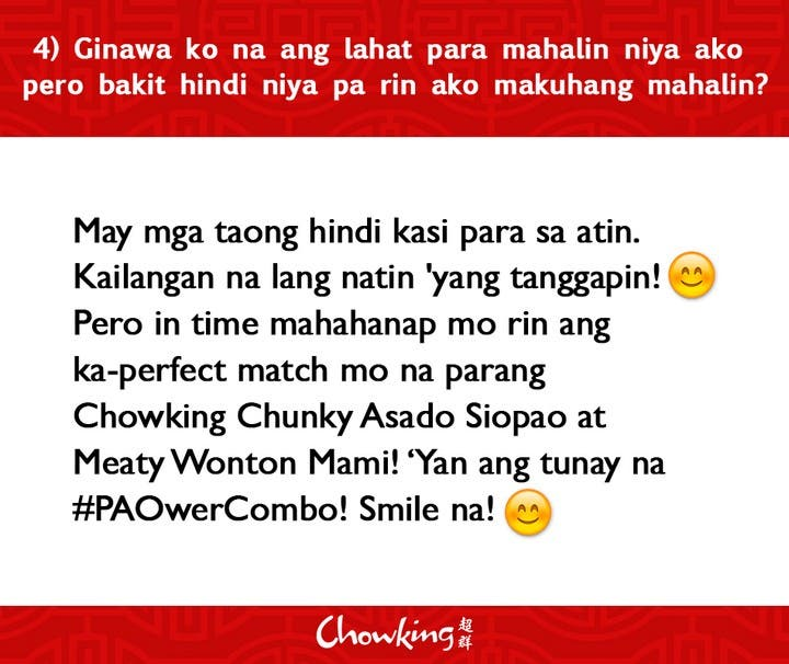 LOOK Chowking Fastfood Responds to Hugot Messages (5)