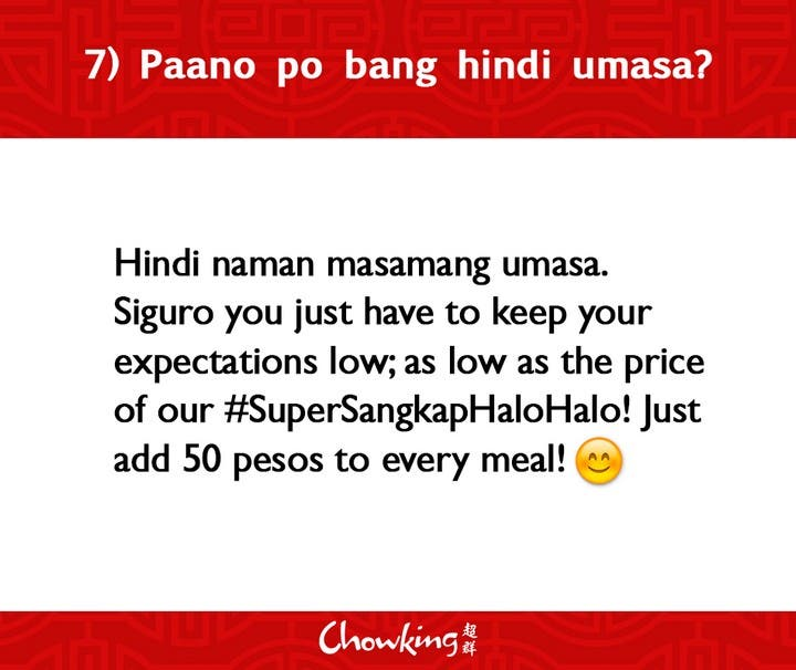 LOOK Chowking Fastfood Responds to Hugot Messages (8)