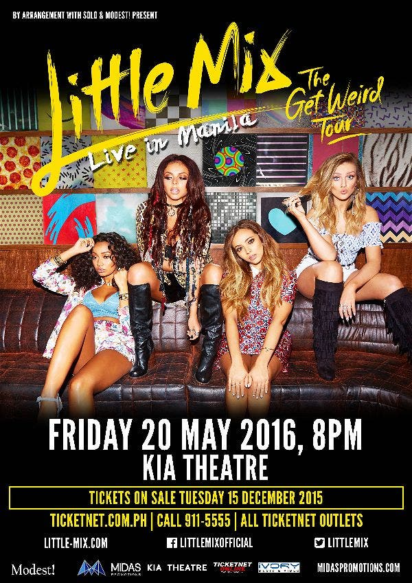 "Little Mix: ""The Get Weird Tour"" Live in Manila this May!"
