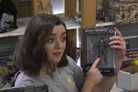 Maisie Williams Arya Stark Game of Thrones prank RPG store