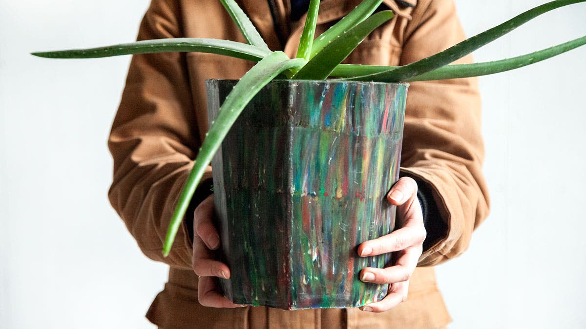 Plant Container made from recycled plastic
