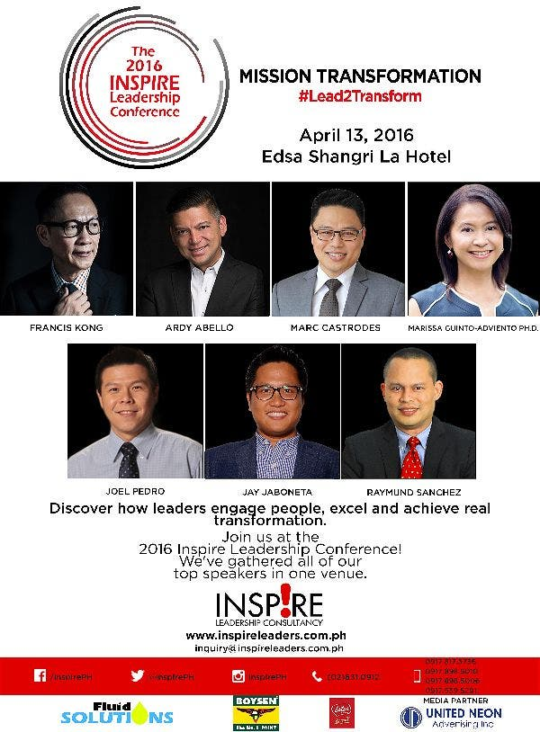 2016 Inspire Leadership Conference: Mission Transformation on April 13