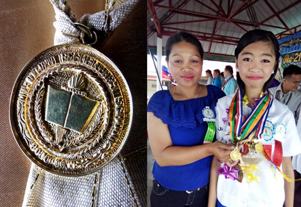 gold medals given to top students