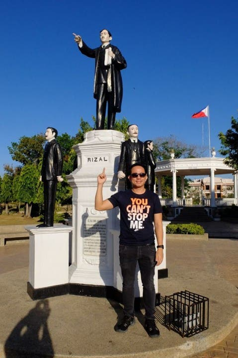 The VoiceMaster with his idol Dr. Jose Rizal
