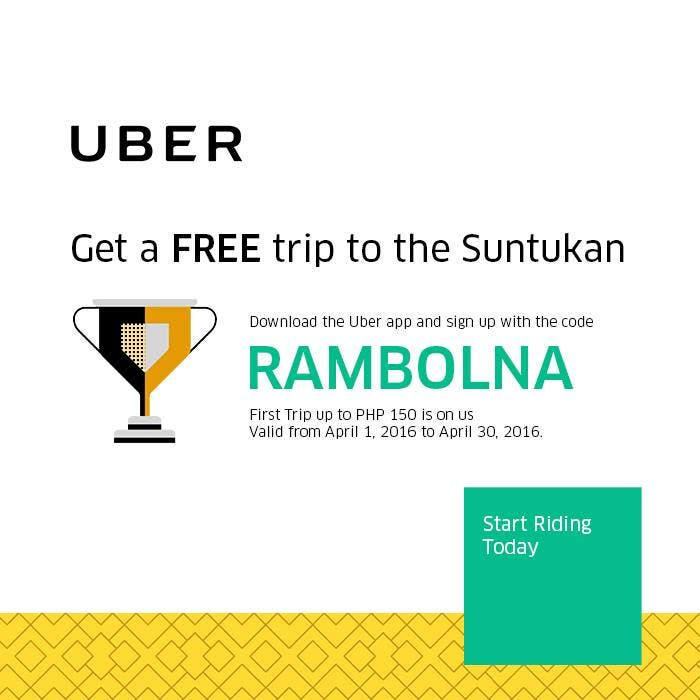 Get a Free Uber Ride to the Suntukan: The Promo Code is Legit - When