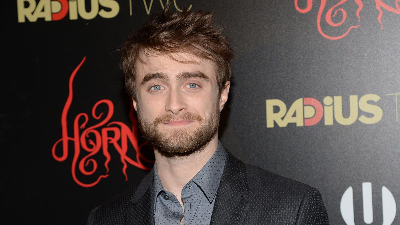 """Daniel Radcliffe attends the premiere of """"Horns"""" at The Landmark Sunshine Theater on Monday, Oct. 27, 2014 in New York. (Photo by Evan Agostini/Invision/AP)"""