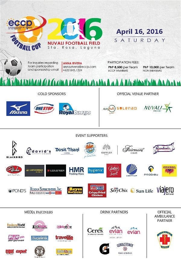 European Chamber of Commerce in the Philippines Kick Off Summer at the 11th ECCP Football Cup in Nuvali!