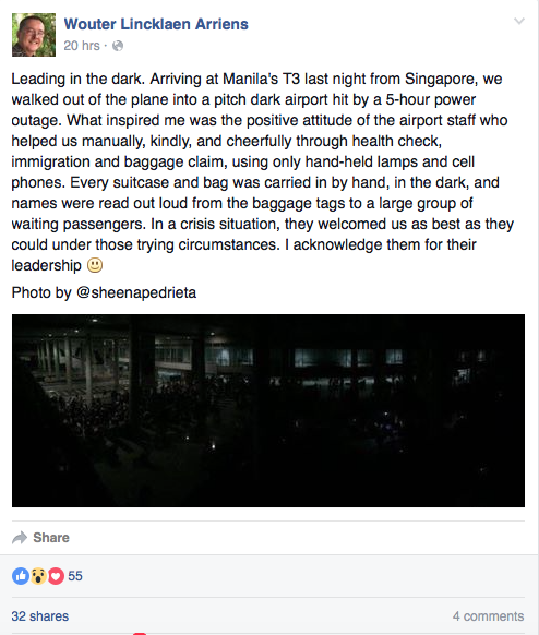 inspiring airport blackout