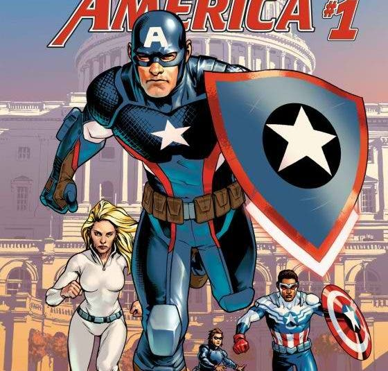Captain America Steve Rogers Comic Book Cover