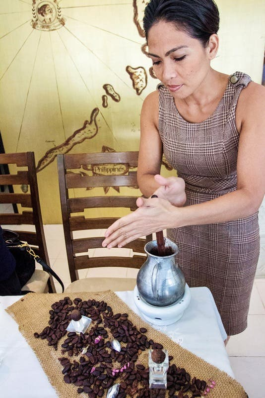 Item #10c_ The _Chocolate Queen_ of Cebu makes most of her delicious chocolate creations by hand