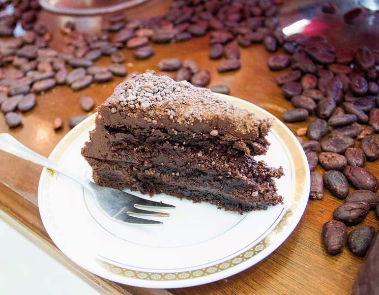 Item #6_ Theobroma, found in cacao, is Latin for _food for the gods_. This torta de cerveza chocolate cake slice from The Chocolate Chamber in Cebu is heaven in your mouth!