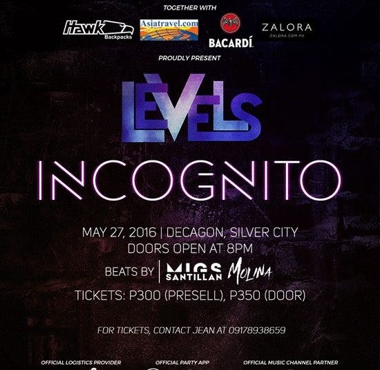 LEVELS 2.0: Incognito — A Night of Drinks, Games, Partying, and Fun
